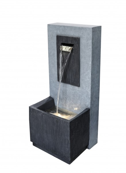 e'lite Brunnen mit LED & Becken/hoch Granite