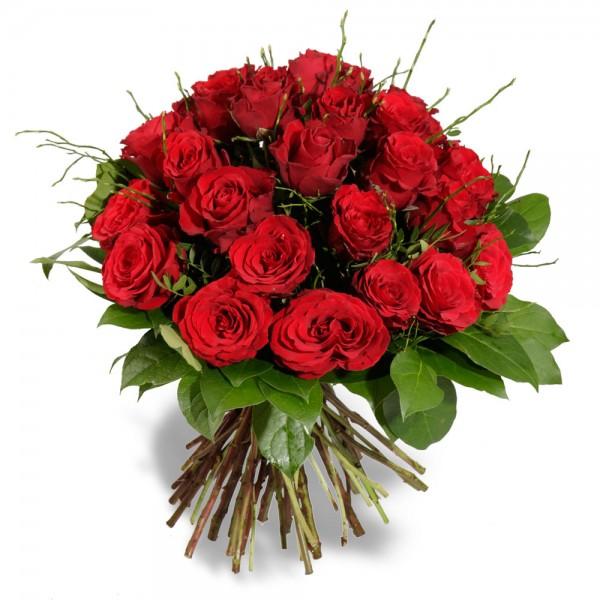 Klassischer Roter Rosenstrauß