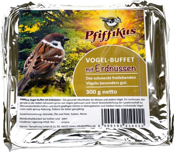 Pfiffikus Vogel-Buffet Erdnuss