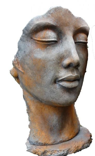 Skulptur Gesicht Frau Rost