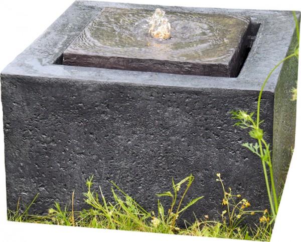 Quader Wasserquelle inkl. LED-Beleuchtung & Pumpe