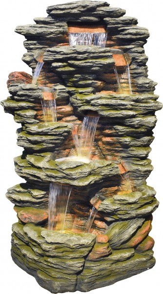 Chao Gigant-Wasserfall inkl. Pumpe und LED-Beleuchtung
